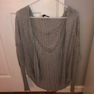Hollister lace back hooded cardigan